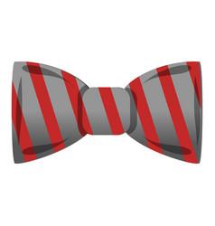 Striped bowtie icon cartoon style vector