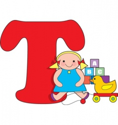 T is for toys vector