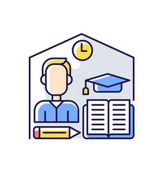 Take home exam rgb color icon vector