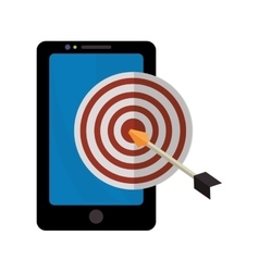 Target with arrow and media icon design vector