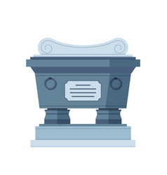 tombstone crypt construction for dead vector image