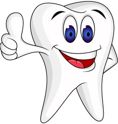 Tooth character cartoon vector