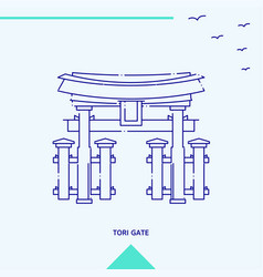 Tori gate skyline vector