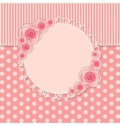 Vintage frame with rose flowers vector