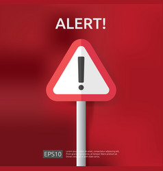 Warning alert sign with triangle exclamation mark vector