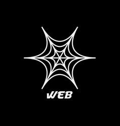 web spider logo design inspiration vector image