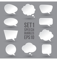 White speech bubbles set vector