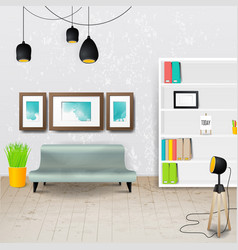 workplace room of modern office stylish and vector image