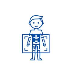 x raymedical diagnostics man line icon concept x vector image