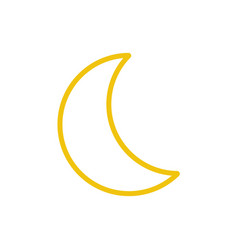 yellow moon icon line color nature symbol vector image