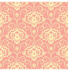 Yellow pink floral seamless pattern vector