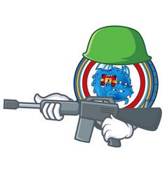 Army dragonchain coin character cartoon vector