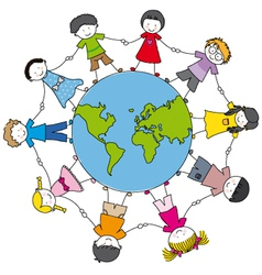 children from different cultures vector image