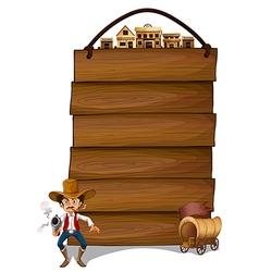 Cowboy Signboard vector image vector image