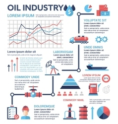Oil industry - poster brochure cover template vector