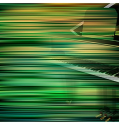 abstract green blur background with grand piano vector image