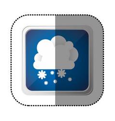 color emblem cloud with snow icon vector image