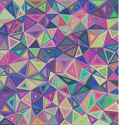 Multicolored triangle mosaic tile background vector image