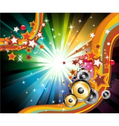 music disco flyers vector image vector image