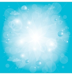shining blue sky vector image