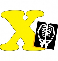x is for x ray vector image