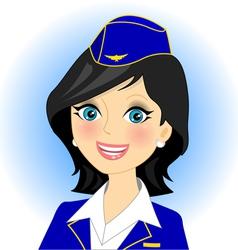 air stewardess vector image vector image