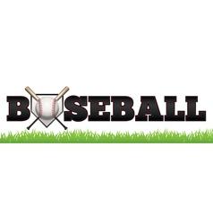 Baseball Word Art vector image vector image