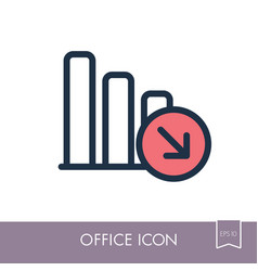 decrease outline icon office sign vector image vector image