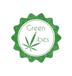 Marijuana badge vector image
