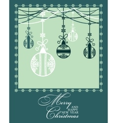 Poster Merry Christmas and Happy New Year vector image