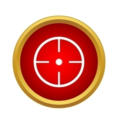 Aim icon simple style vector image