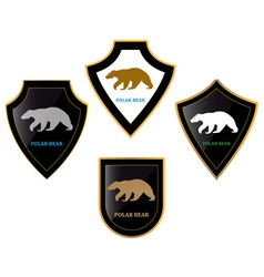 Bears and shields vector image vector image