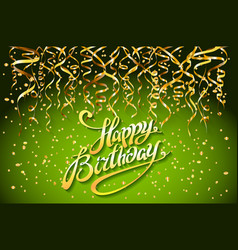 concept party on green background top view happy vector image vector image
