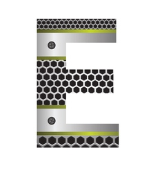 perforated metal letter E vector image