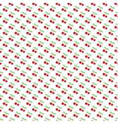 seamless pattern with berry cherry endless vector image vector image