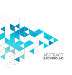 abstract retro geometric background template vector image