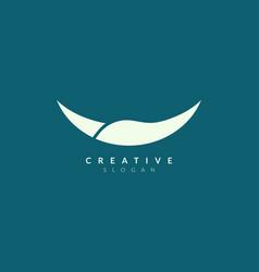 Animal horn shape minimalist and simple logo vector