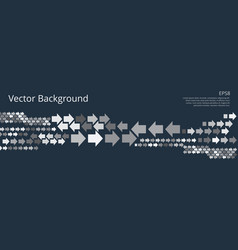 background with left and right arrows vector image