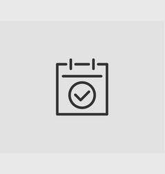 calendar icon flat line design vector image