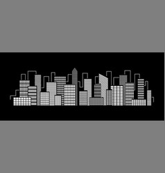 city silhouette icon with windows in the vector image