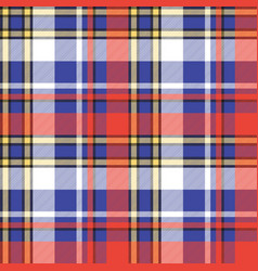 color plaid seamless pattern vector image