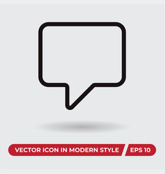 comment icon in modern style for web site and vector image