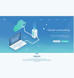 concepts cloud storage vector image