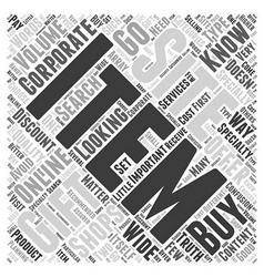 corporate gift online Word Cloud Concept vector image