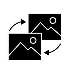 data transforming glyph icon vector image
