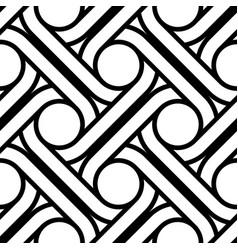 Design seamless interlaced pattern vector
