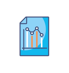 Document chart research fill style icon vector