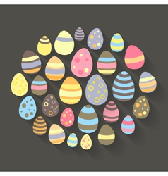 Easter eggs icon set vector