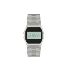 Electronic watch flat icon vector