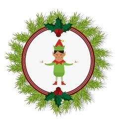 Elf cartoon of Christmas season design vector
